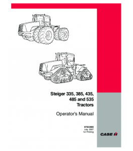 Case Ih Steiger 335 385 435 485 535 Tractor Operators Manual Download | eBooks | Automotive