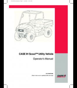 Case Ih Scout Utility Vehicle Operators Manual Download | eBooks | Automotive