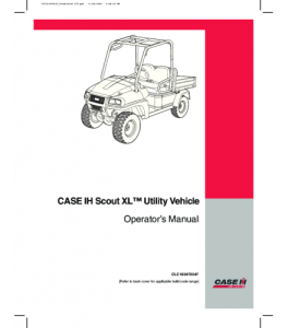 Case Ih Scout Xl Utility Vehicle Operators Manual Download | eBooks | Automotive