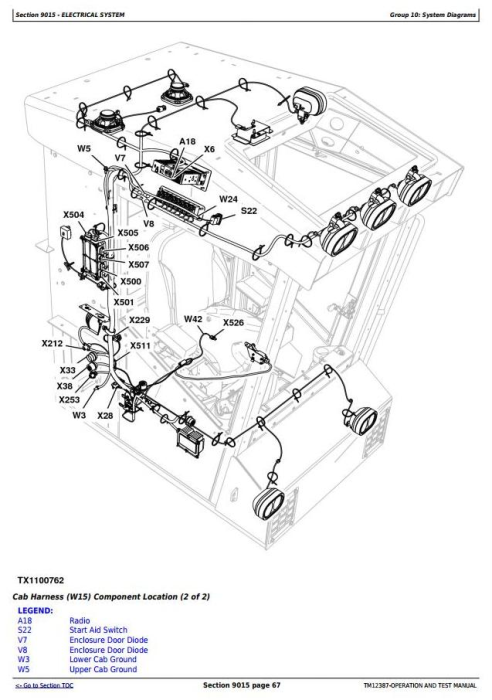 Second Additional product image for - John Deere 753J, 759J Tracked Harvester (SN.from C220453) Diagnostic & Test Service Manual (TM12387)