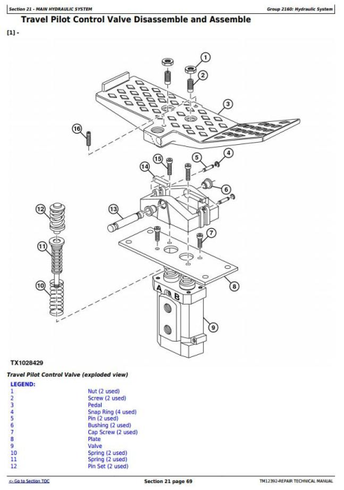Fourth Additional product image for - John Deere 703JH, 753JH, 759JH Tracked Harvester (SN. from C220453) Service Repair Manual (TM12392)