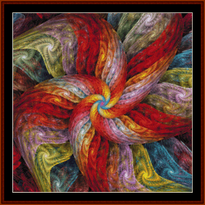 fractal 703 cross stitch pattern by cross stitch collectibles