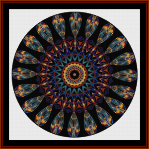 fractal 704 cross stitch pattern by cross stitch collectibles