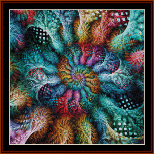 fractal 705 cross stitch pattern by cross stitch collectibles