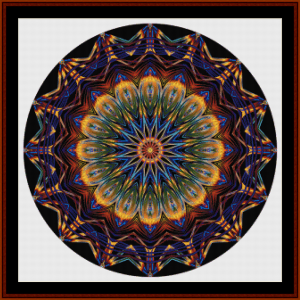 fractal 706 cross stitch pattern by cross stitch collectibles