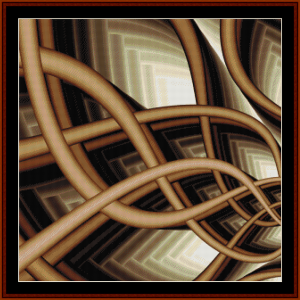fractal 708 cross stitch pattern by cross stitch collectibles