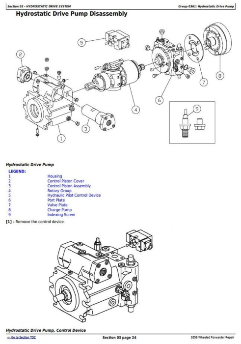 Second Additional product image for - John Deere 1010B, 1058 Wheeled Forwarder Service Repair Technical Manual (tm1943)