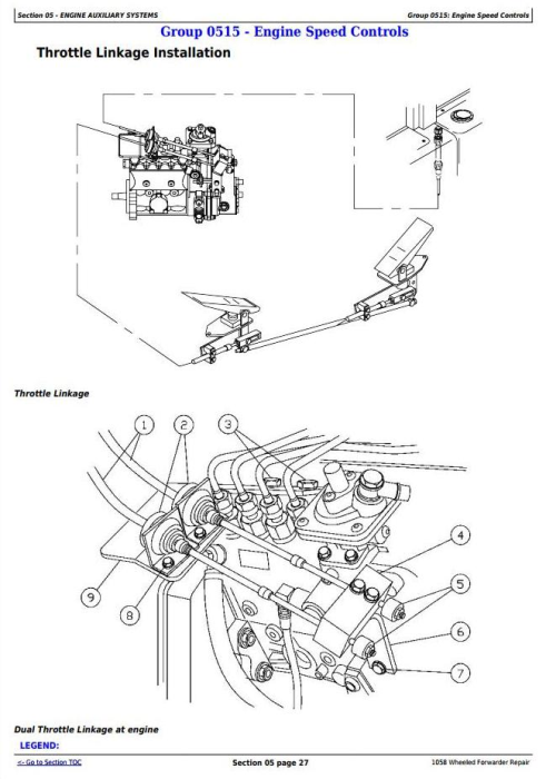 Third Additional product image for - John Deere 1010B, 1058 Wheeled Forwarder Service Repair Technical Manual (tm1943)