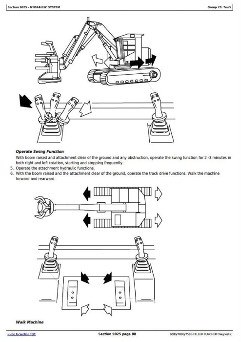 Fourth Additional product image for - John Deere / TIMBERJACK 608S, 703G, 753G Feller Buncher Diagnostic & Test Service Manual (TMF387448)