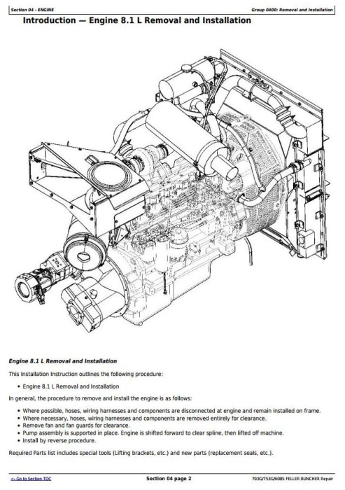 Third Additional product image for - John Deere 703G/753G/608S Feller Buncher(Track Harvester) Service Repair Technical Manual(TMF387449)