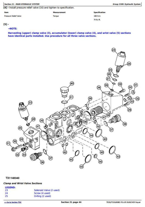 Fourth Additional product image for - John Deere 703G/753G/608S Feller Buncher(Track Harvester) Service Repair Technical Manual(TMF387449)