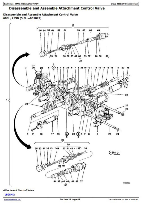 Fourth Additional product image for - John Deere 759G (SN.001032-), 608L Tracked Feller Buncher (Harvester) Service Repair Manual (TM2219)