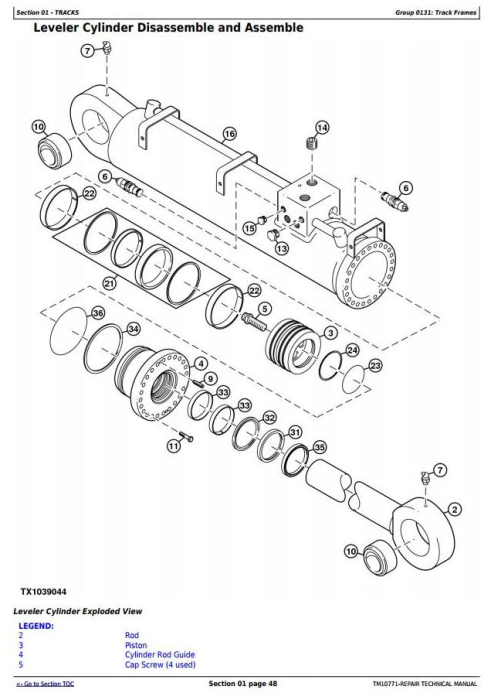 Second Additional product image for - John Deere 853JH, 903JH, 909JH Tracked Feller Buncher/Harvester Service Repair Manual (TM10771)