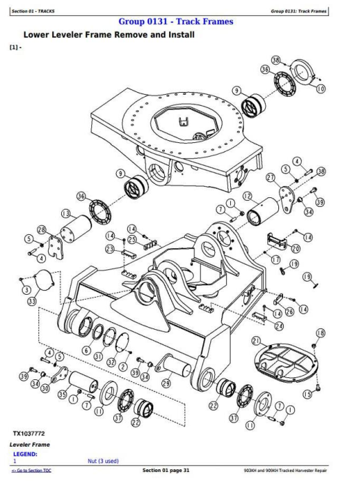 Second Additional product image for - John Deere 903KH and 909KH Tracked Harvester Service Repair Technical Manual (TM11626)