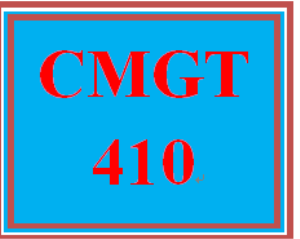 cmgt 410 week 1 project plan draft