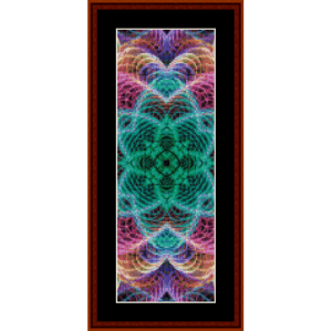 fractal 700 bookmark by cross stitch collectibles
