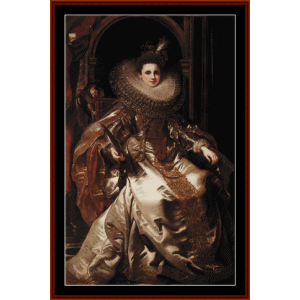 maria serra pallavicino - rubens cross stitch pattern by cross stitch collectibles