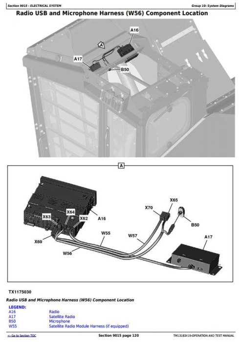 Third Additional product image for - John Deere 859MH (Open-Loop Hydr.Drv.) Harvester (SN.270423-) Diagnostic Service Manual (TM13183X19)