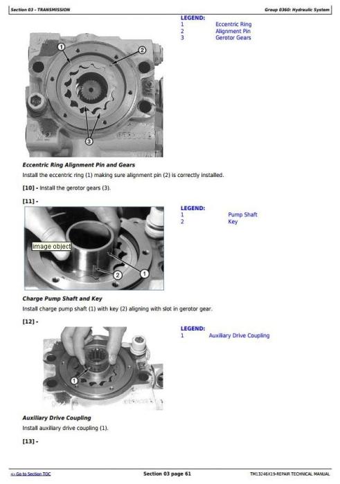 Third Additional product image for - John Deere 803MH, 853MH, 859MH(Closed-Loop Hydr.Drv) Harvester (SN.270423-)Repair Manual(TM13246X19)
