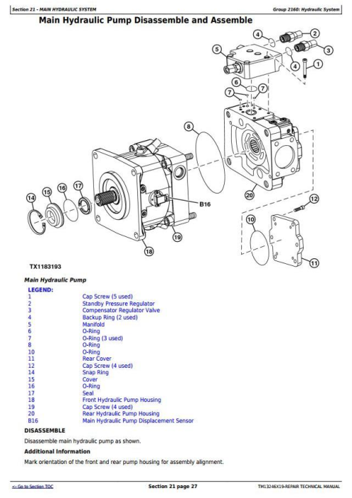 Fourth Additional product image for - John Deere 803MH, 853MH, 859MH(Closed-Loop Hydr.Drv) Harvester (SN.270423-)Repair Manual(TM13246X19)