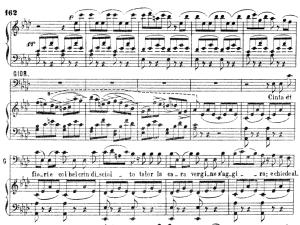 cinta di fiori: aria and chorus for bass (sir giorgio walton). v. bellini: i puritani, act ii sc.2. vocal score, ed. ricordi (pd). italian (a4).