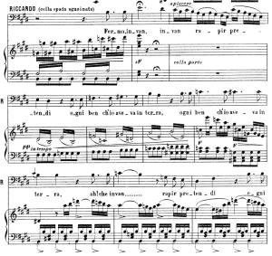 Ferma, In van rapir pretendi: Aria for Bass (Riccardo). V. Bellini: I Puritani, Act I Sc.3. Vocal Score, Ed. Ricordi (PD). Italian (A4). | eBooks | Sheet Music