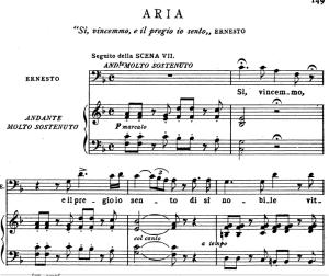 si vincemmo: aria for bass (ernesto). v. bellini: il pirata, act i sc.3. vocal score, ed. ricordi (pd). italian (a4)