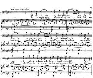 vi ravviso, o luoghi ameni. v. bellini: la sonnambula, act i sc.1. vocal score, ed. schirmer (pd). italian/english. sheet music (a4).