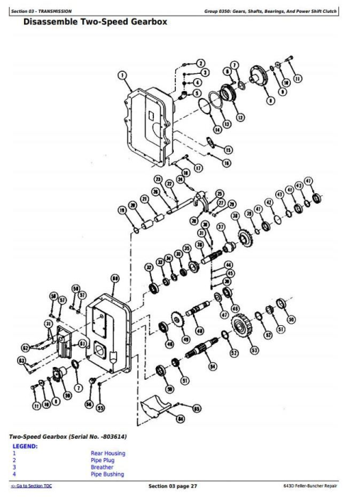 Second Additional product image for - John Deere 643D Wheeled Feller Buncher Service Repair Technical Manual (tm1482)