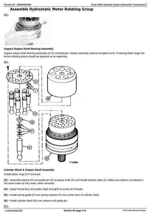 Third Additional product image for - John Deere 643D Wheeled Feller Buncher Service Repair Technical Manual (tm1482)
