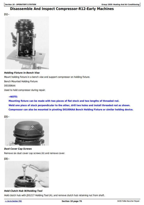 Fourth Additional product image for - John Deere 643D Wheeled Feller Buncher Service Repair Technical Manual (tm1482)