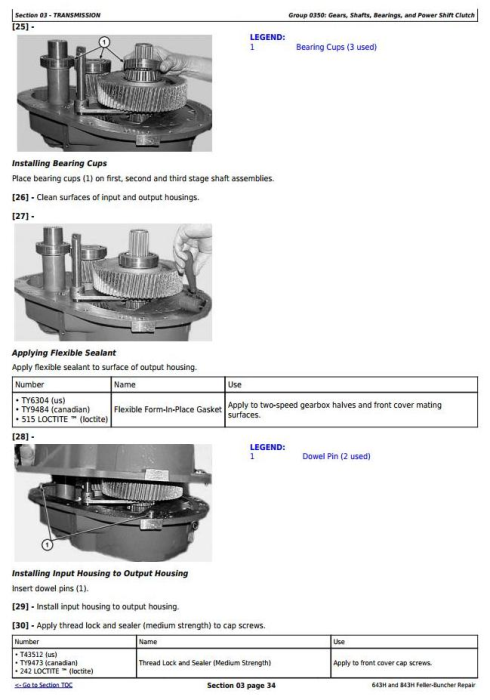 Third Additional product image for - John Deere 643H and 843H Wheeled Feller Buncher Service Repair Technical Manual (tm1845)