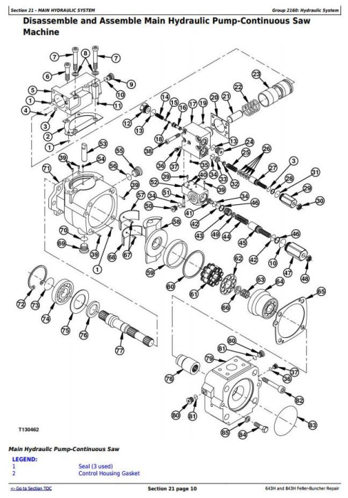 Fourth Additional product image for - John Deere 643H and 843H Wheeled Feller Buncher Service Repair Technical Manual (tm1845)