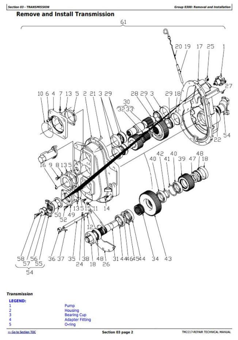 Second Additional product image for - John Deere 643J, 843J (SN.770001-) Wheeled Feller Buncher / Harvester Sevice Repair Manual (TM2217)