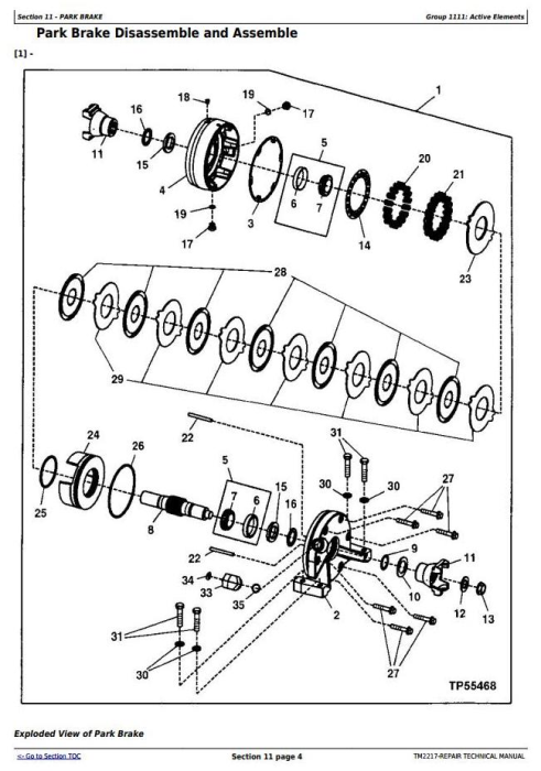 Fourth Additional product image for - John Deere 643J, 843J (SN.770001-) Wheeled Feller Buncher / Harvester Sevice Repair Manual (TM2217)