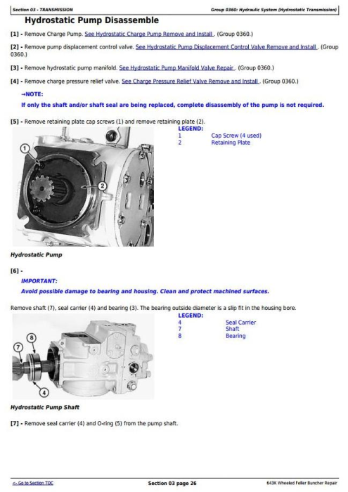 Second Additional product image for - John Deere 643K Wheeled Harvester / Feller Buncher Service Repair Technical Manual (TM11363)