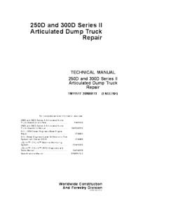 John Deere Articulated Dump Truck Repair Service Technical Manual Tm11517 | eBooks | Automotive