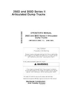 John Deere 250d 300d Series 2operators Manual Articulated Dump Truck Omt263512 | eBooks | Automotive
