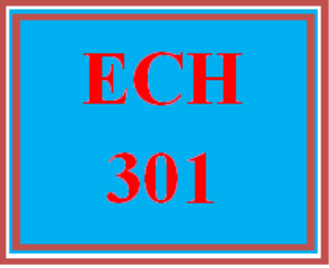 ech 301 week 1 early childhood education terminology chart