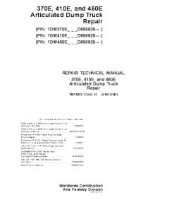 John Deere 370e 410e 460earticulated Dump Truck Manual Repair Service Technical Manual Tm13032 | eBooks | Automotive