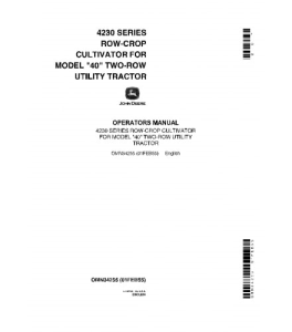 John Deere 4230 Series Operators Manual Row-Crop Cultivators For Model 40 Two-Row Utility Tractor Omn34255 | eBooks | Automotive