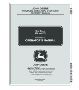 John Deere 260 270 Skid Steer Loader Operators Manual Omkv11663 | eBooks | Automotive