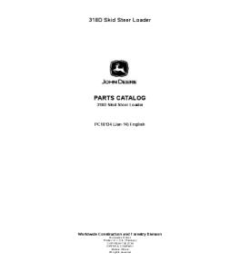 John Deere 318d Skid Steer Loader Catalog Manual Parts Pc10134   eBooks   Automotive