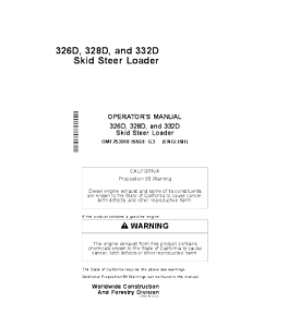 John Deere 326d 328d 332d Skid Steer Loaderoperators Manual Omt253018 | eBooks | Automotive