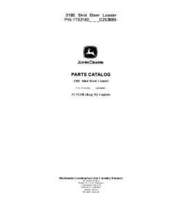 John Deere Catalog Manual 318e Skid Steer Loader Parts Pc11228 | eBooks | Automotive