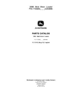 John Deere 326e Skid Steer Loader Catalog Manual Parts Pc11243 | eBooks | Automotive