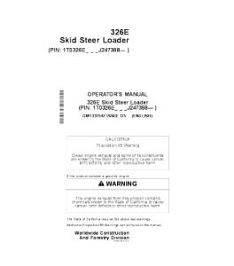 John Deere 326e Skid Steer Loader Operators Manual Omt337542 | eBooks | Automotive