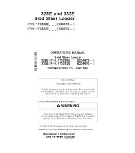 John Deere 328e 332e Skid Steer Loader Operators Manual Omt306318 | eBooks | Automotive