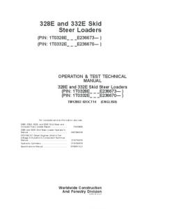 John Deere 328e 332e Skid Steer Loader Operation And Test Service Technical Manual Tm12802 | eBooks | Automotive