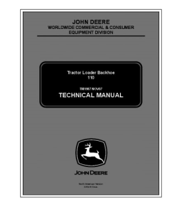 John Deere 110 Tractor Loader Backhoe Service Technical Manual Tm1987 | eBooks | Automotive